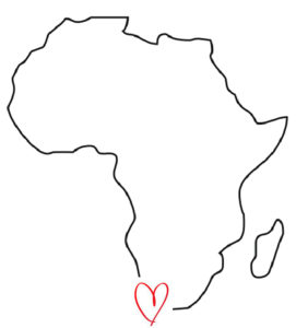 African Map With Heart